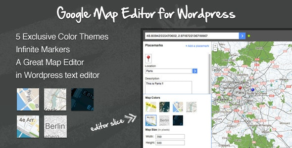 Google Maps Editor for Wordpress by Locace | CodeCanyon