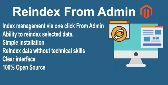 Reindex From Admin Magento 2 Extension - CodeCanyon Item for Sale