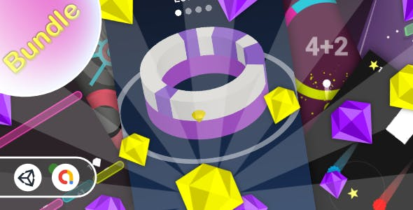 Casual Bundle Games 4 - 7 Games(Unity Complete+Admob+Android+iOS)