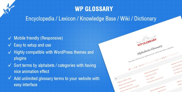 WP Glossary - Encyclopedia / Lexicon / Knowledge Base / Wiki / Dictionary - CodeCanyon Item for Sale