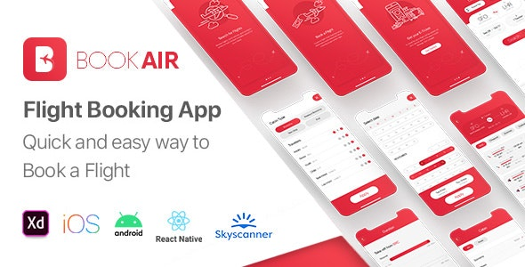 BookAir - Cross Platform Flights Booking App | React Native