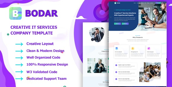 Bodar - Business & IT Company HTML5 Template - CodeCanyon Item for Sale