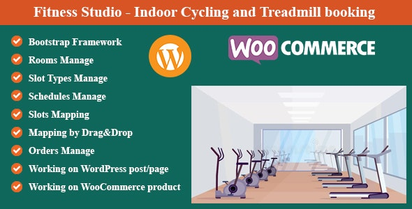 Fitness Studio - Indoor Cycling and Treadmill booking for WordPress and WooCommerce - CodeCanyon Item for Sale