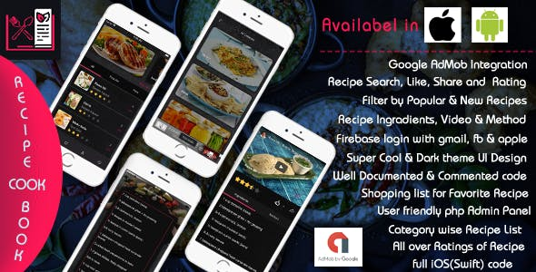 Recipe Cook Book - iOS App Template