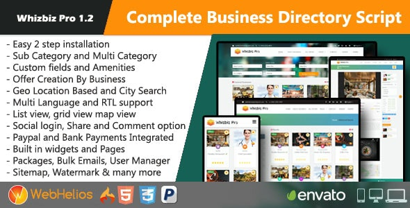 Whizbiz Pro - Complete Business Directory Script - CodeCanyon Item for Sale