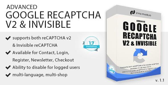 Advanced Google reCAPTCHA V2 & Invisible reCAPTCHA for Prestashop