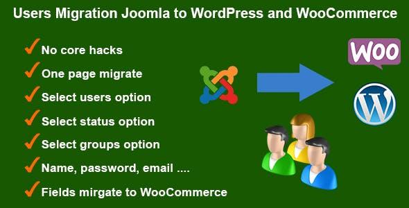 Users Migration Joomla to WordPress and WooCommerce