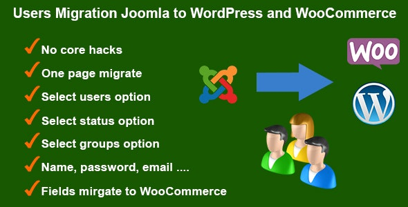 Users Migration Joomla to WordPress and WooCommerce - CodeCanyon Item for Sale