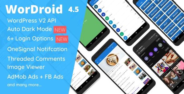 WorDroid v4.5 – Full Native WordPress Blog App