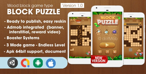 Block Puzzle - Unity Complete Project - CodeCanyon Item for Sale