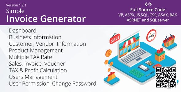 Simple Invoice Generator - VB, ASP.NET, AJAX, Multiple TAX (GST)
