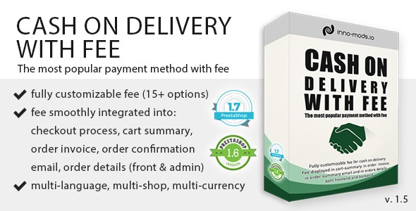Cash On Delivery With Fee for Prestashop - CodeCanyon Item for Sale