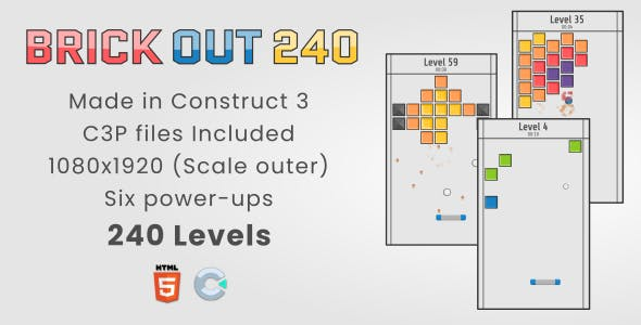 Brick Out 240 - HTML5 Casual Game
