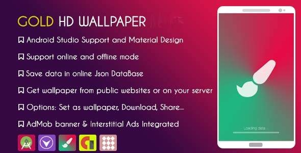 Gold HD WALLPAPER 2021 - With ADMOB & GDPR - CodeCanyon Item for Sale