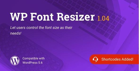 WP Font Resizer | Text Resize WordPress Plugin