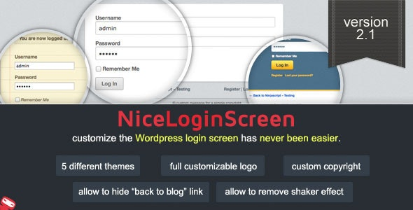 Wp Nice Screen Login - Customize Admin Login Page - CodeCanyon Item for Sale