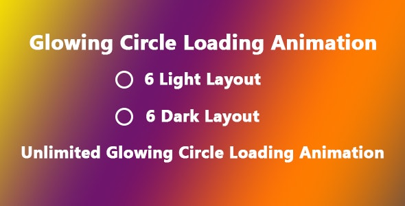 Glowing Circle Loading Animation - CodeCanyon Item for Sale