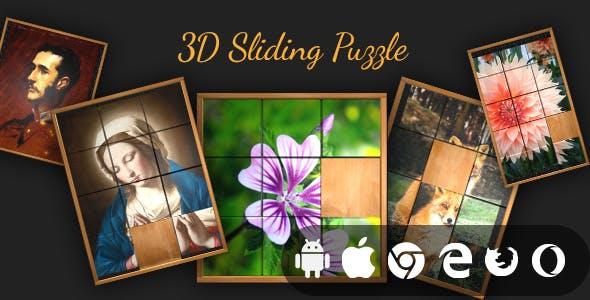 3D Sliding Puzzle - Cross Platform Realistic 3D Puzzle Game