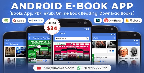 Android EBook App (Books App, PDF, ePub, Online Book Reading, Download Books) - CodeCanyon Item for Sale