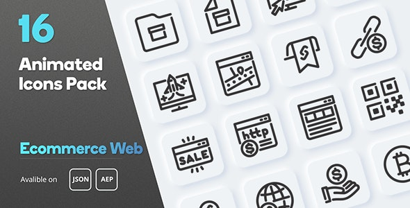 Ecommerce Web Animated Icons Pack - CodeCanyon Item for Sale