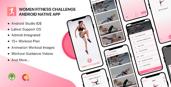 Women Fitness Challenge - Android Native App - CodeCanyon Item for Sale