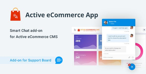 Active eCommerce Chat & Support App for Support Board