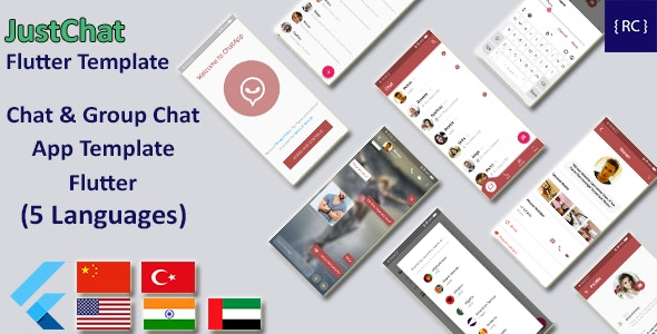 Chat & Group Chat App Template Flutter | Whatsapp Clone Flutter Template | Multi Language