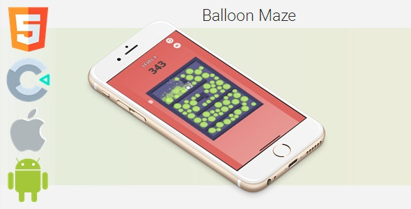 Balloon Maze - HTML5 Game (Construct 3 / c3p) - CodeCanyon Item for Sale