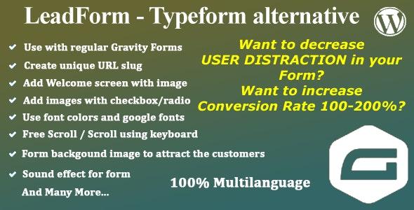 LeadForm - Typeform alternative for WordPress - CodeCanyon Item for Sale