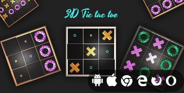 3D Tic Tac Toe - Cross Platform Realistic Casual Game - CodeCanyon Item for Sale