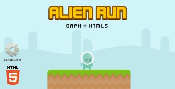 Alien Run - Construct 2 Html5 Game