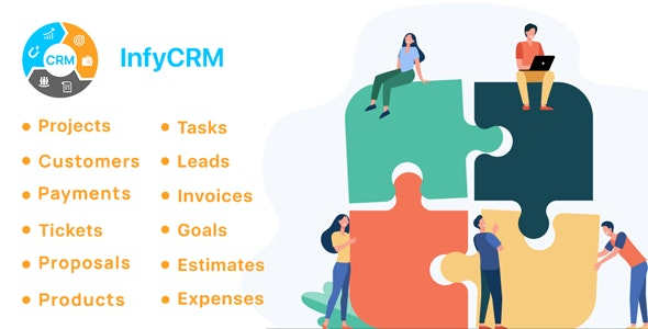 InfyCRM - Laravel CRM with Project Management, Tasks, Leads, Invoices, Estimates and Goals - CodeCanyon Item for Sale