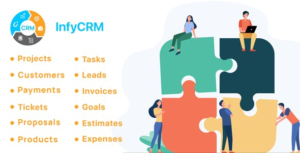 InfyCRM - Laravel CRM with Project Management, Tasks, Leads, Invoices, Estimates and Goals
