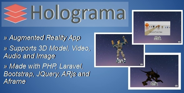 Holograma – Augmented Reality Builder App - CodeCanyon Item for Sale