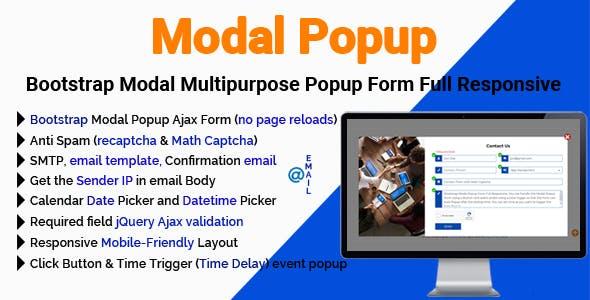 Modal Popup - Bootstrap Modal Multipurpose Popup Form Full Responsive