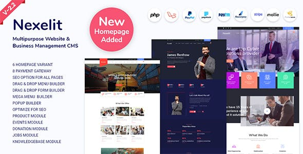 Nexelit - Multipurpose Website & Business Management System CMS