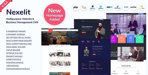 Nexelit - Multipurpose Website & Business Management System CMS - CodeCanyon Item for Sale