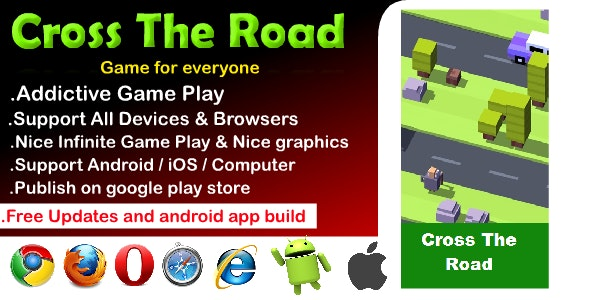 Cross The Road HTML5 Game - CodeCanyon Item for Sale