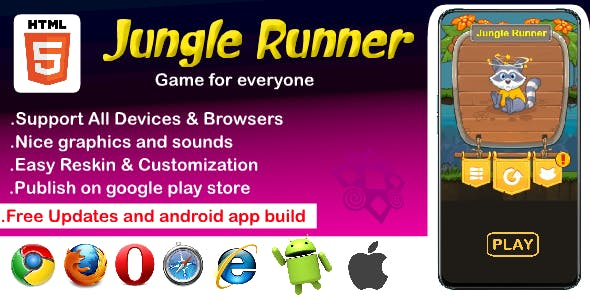 Jungle Runner HTML5 Game