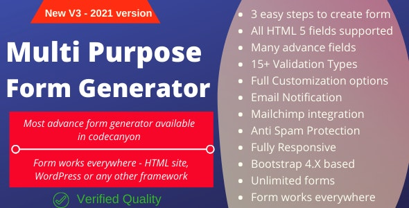 Multi-Purpose Form Generator & docusign (All types of forms) with SaaS - CodeCanyon Item for Sale