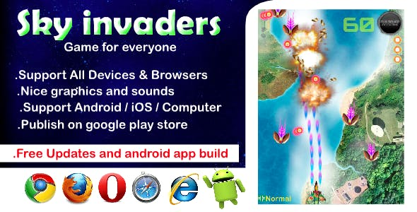 Sky Invaders HTML5 Game