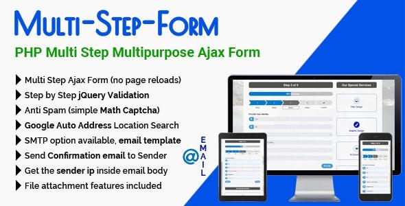 Multi-Step-Form - PHP Multi Step Multipurpose Ajax Form - CodeCanyon Item for Sale