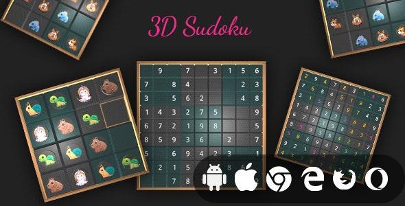 3D Sudoku - Cross Platform Realistic 3D Puzzle Game - CodeCanyon Item for Sale