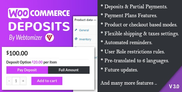 WooCommerce Deposits v3.1.6 – Partial Payments Plugin