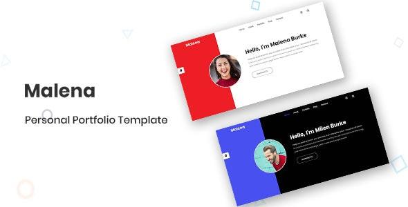 Malena- Personal Portfolio Template - CodeCanyon Item for Sale