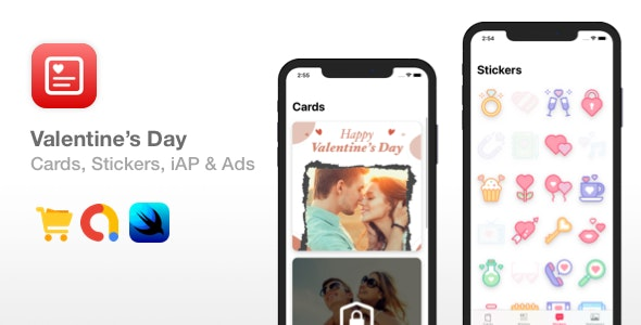 Valentine's Day - Cards, Stickers, Wallpapers, iAPs - CodeCanyon Item for Sale