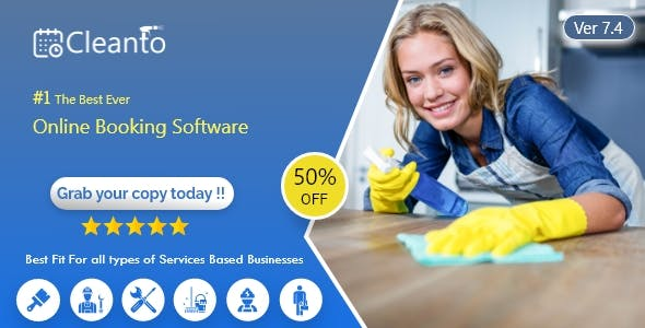 Online bookings management system for maid services and cleaning companies - Cleanto