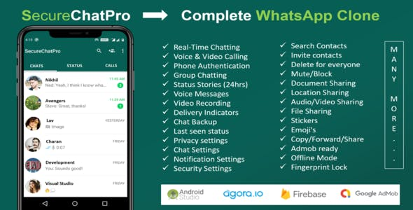 SecureChatPro - A Complete Whatsaap Clone