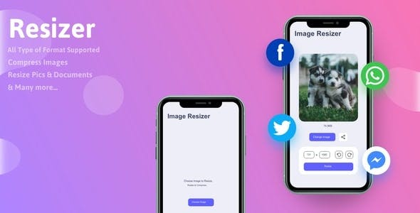 Resizer - Simple Image Editor | Complete React Native App