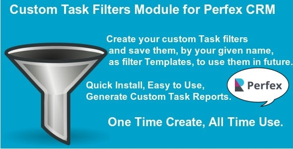 Custom Task Filters Module for Perfex CRM